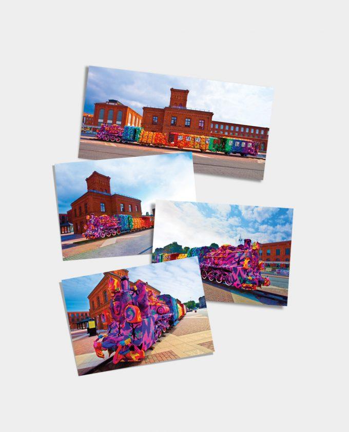 Zestaw kolekcjonerskich pocztówek 3D Art-Lokomotywa