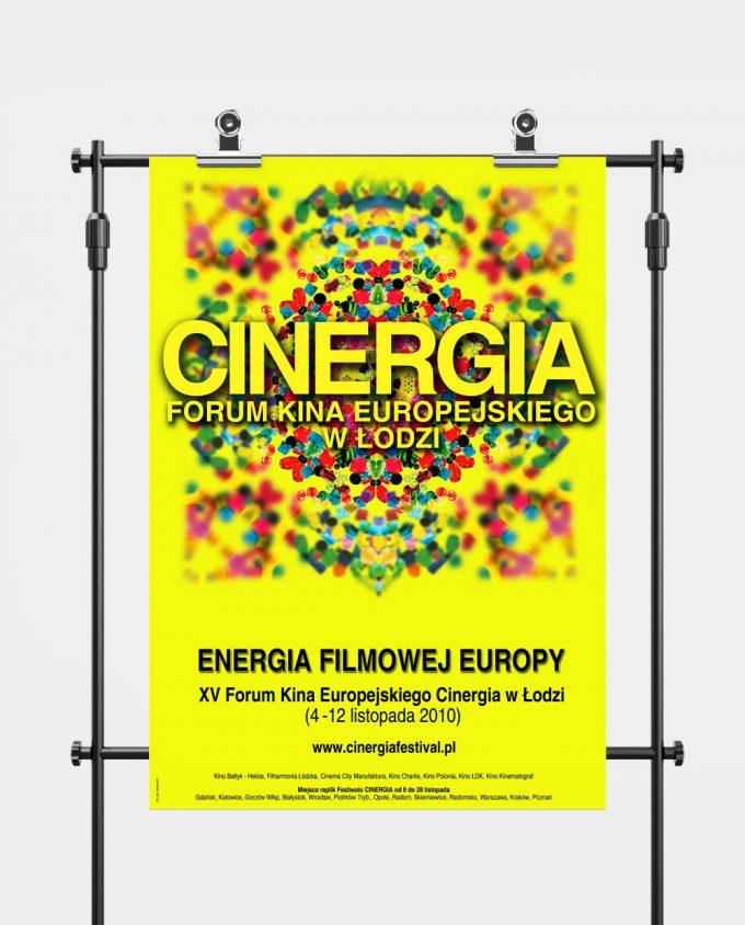 Plakat XV Forum Kina Europejskiego Cinergia