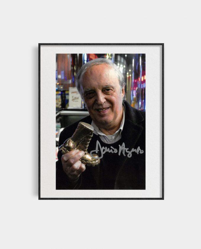 Portret Dario Argento z autografem