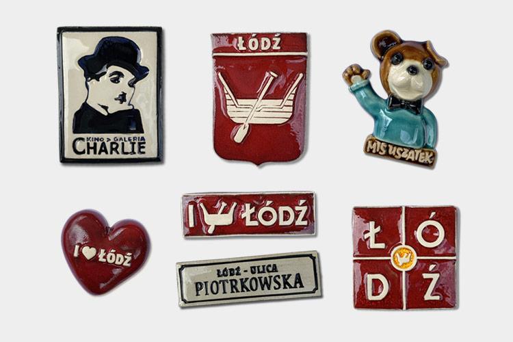 Pamiątkowe magnesy z Łodzi