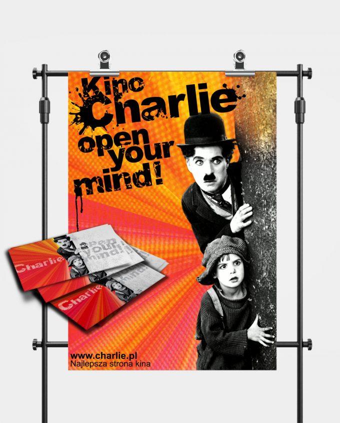 Zestaw kinomana plakat i karnet do Kina Charlie
